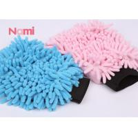 China Extreme Thick Microfiber Chenille Dusting Mitt , Double Size Microfibre Noodle Wash Mitt on sale