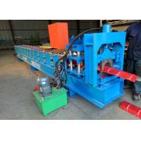 Buy cheap Colored Glaze Steel Ridge Cap Forming Machine Aluminum 15 Rows Stand product