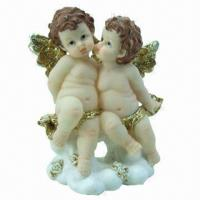 Buy cheap Polyresin craft in baby angel figurine design, suitable for promotional and gift purposes product