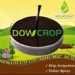 Buy cheap DOWCROP HOT SALE HIGH QUALITY WS@HUMIC ACID NPK PLUS TE LIQUID DARK BROWN LIQUID 100% WATER SOLUBLE FERTILIZER ORGANIC product