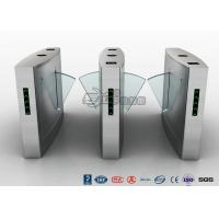 Buy cheap RS232 SS304 Indoors Flap Barrier Turnstile Entrance Automatic Bi Directional Turnstile product