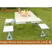 Buy cheap Vehicle Camping Folding Table and Chair Set , Folding Picnic Tables product