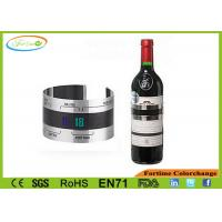 China Customizable Stainless Steel Liquid Crystal Digital Wine Champagne Thermometer on sale