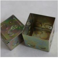 "Buy cheap North American Knockout Box 4"" Square Drawn Metal stamping processing , Wall Mounted Stamping Box Part product"