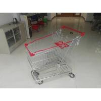 Buy cheap European Steel 100L Low Tray Supermarket Shopping Trolley With Blue Baby Seat product