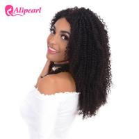 China Afro Curly 100 Human Hair Lace Front Wigs , 8A Grade Wavy Lace Front Wigs on sale