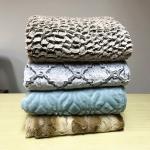 Buy cheap Custom Printed Sherpa Fake Fur Bedding Blanket , Brush Pv Fleece Blanket 200*220CM product