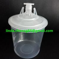 Buy cheap clear PP spray gun paint mixing cup flexible PE  material inner cup 800ml inner cup/ lids /stooper set product