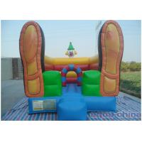 China Clown Inflatable Bouncer , Loving Bouncer Shoes With Mini Size on sale