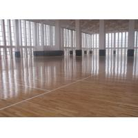 Buy cheap Flat Solid Sports Wooden Flooring , Natural Maple Basketball Court Wood Flooring from Wholesalers