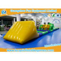 Buy cheap Funny Inflatable Water Park Games / Inflatable Water Obstacle 0.6mm / 0.9mm Thickness product