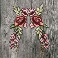 Buy cheap Colourful Floral Embroidered Applique Patches , Polyester Sew On Flower Appliques product