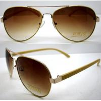 Buy cheap Handmade Round Brown Metal Frame Sunglasses , Men Eye Glasses product