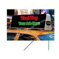 Buy cheap Long Time Warranty LED Taxi Sign  With Usb Wifi 3G 600Hz~2000Hz product