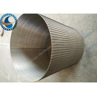 Easy Maintenance Wedge Wire Sieve Filters For Food Processing Applications