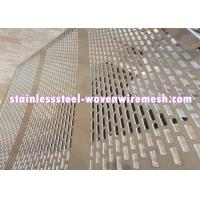 Buy cheap Galvanized Decorative Perforated Sheet Metal , Perforated Aluminium Mesh Sheet product