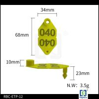 Buy cheap TPU Sheep / Cattle Management Tags , Animal Identification Ear Tags ETP12 product
