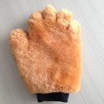 Buy cheap Double Face Wool Wash Mitt Sheepskin Leather Wash Mitten product