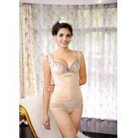 Buy cheap OEM / ODM Elegant Beige Winter Body Shaping Underwear with Lace Siamese Sexy Slimming Girdle Shaper LT118 product