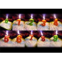 Buy cheap Newest Stitches Printed Number Birthday Candle 9.5g White Short Line Border Wax from Wholesalers