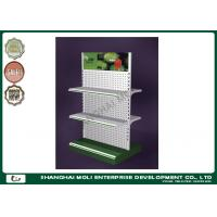 China Two - side supermarket shop display racks perforated metal shelves for outdoor advertising on sale