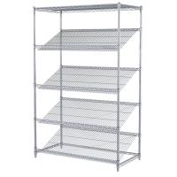 China Chrome Plated Rack Commercial Metal Retail Display Wire Shelving Unit For Retail Market on sale