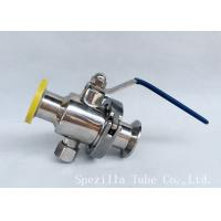 Buy cheap DN25 TP316L THREADED BALL VALVE BPE VALVES SANITARY FITTINGS POLSIHED product