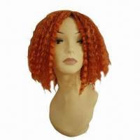Buy cheap Medium Length Synthetic Wig with Tight Curls, Popular European Party Wig product