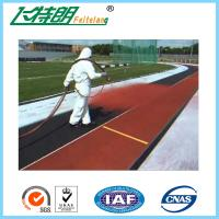 IAAF Gymnasium Rubberised Flooring All Weather Tracks Outdoor UV - Resistance