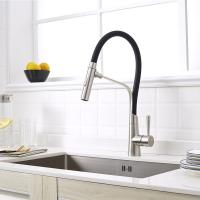 Buy cheap Factory good quality single handle flexible colorful kitchen faucet with black color product