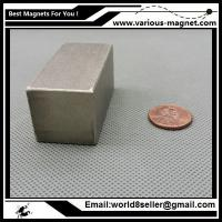 Buy cheap SmCo Magnet Block 50x25x25 mm YXG26, 350degree C High Temperature Mortor Magnet Permanent Rare Earth Magnets product
