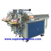 Buy cheap Two Output Table Napkin Tissue Paper Packaging Machine , Semi Automatic product