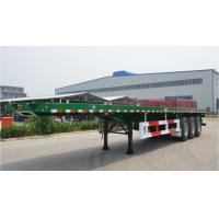 Buy cheap Flat-bed Semi Trailer Truck 3 Axles 30-60Tons 13m for Container Loading product