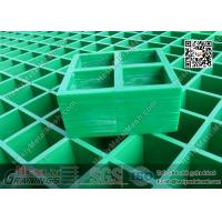Buy cheap 38mm THK Green Color Molded Fiberglass Grating | USCG Certificated product
