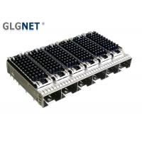 Buy cheap Piggyback SFP Cage Connector 1x6 Ganged Heat Sink EMI Cage For 10G Network product