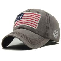 Buy cheap Embroidered American Flag Logo 6 Panels Unstructured Dad Hat product