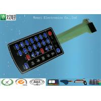 China PET Membrane Switch Connectors Pitch 2.54mm , Embossed Key Tactile Switch Keypad on sale