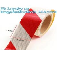 China Aluminized Red And White Reflective Tape For Trucks on sale