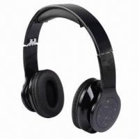 Buy cheap Manufacturing Headphone/Headset with MP3 and 5V DC Power Input, Measures 15 x 15 x 6.5cm product