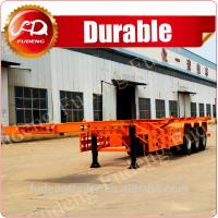 Buy cheap Shandong Fudeng 40T 40ft China Cheap Skeleton Truck Trailer Semi Trailer for Sale product