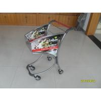 Buy cheap 40L Supermarket Shopping Carts Trolley In Chromed Plated And Advertisement Plate product
