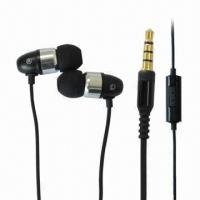 Buy cheap Wired Handsfree In-ear Earphones with 20 to 20kHz Frequency Response, 3.5mm Stereo Plug, 10mm Driver product