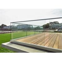 Buy cheap Luxury U Channel Tempered Glass Railing Systems Flooring Mounted For Pool Fencing product