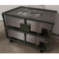 China Customized Color Warehouse Metal Storage Bins IBC Wire Pallet Cage Container on sale
