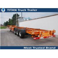 Buy cheap Tri - Axle Container Trailer Chassis product