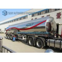 Customized 40000L Aluminum 5454 Tank Semi Trailer Three Axle Trailers
