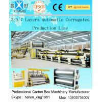 Buy cheap 3 Layers Corrugated Packaging Box Making Machine 70m * 8.2m * 4.5m For Paperboard product