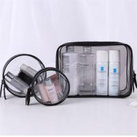 Quality Flexible 3 Piece Clear Cosmetic Bag Set Good Stability Every Size Available for sale