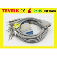 Buy cheap Banana 4.0 AHA Schiller ECG Cable With Integrated 10 Leadwires from wholesalers