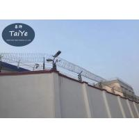 Buy cheap Prison Concertina Galvanized Razor Barbed Tape Wire High Quality product